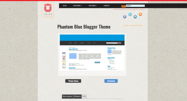 phantom blogger template
