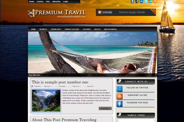 premium travel blogger template